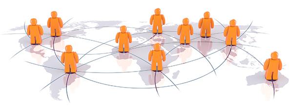 weltweite CRM vernetzung