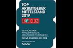 Focus TOP Arbeitgeber Mittelstand 2019 Siegel