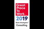 GPTW Beste Arbeitgeber Consulting 2019 Siegel