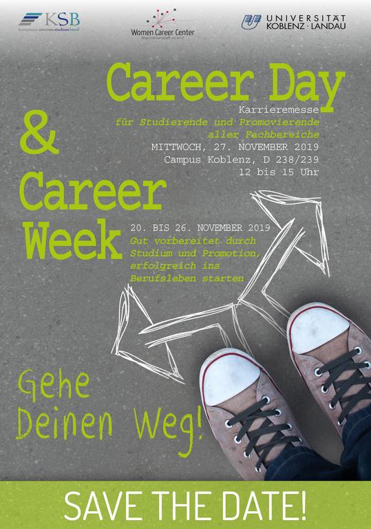 Plakat Career Day der Universität Koblenz