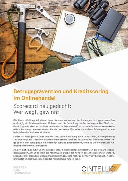 Publikation: Scorecard Kreditscoring Onlinehandel