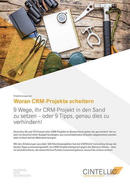 Whitepaper zum Thema Warum CRM-Projekte scheitern